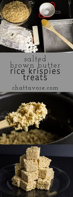 With brown butter (and double butter, at that) and salt, these salted brown butter Rice Krispies treats are sure to be the best you've ever had! | chattavore.com