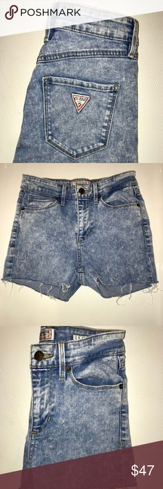 GUESS DENIM SHORTS [VINTAGE] GUESS DENIM SHORTS [VINTAGE]  SIZE: 25 CONDITION: LIKE NEW, ZERO FLAWS! Guess Shorts Jean Shorts
