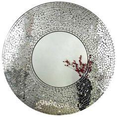 Mosaic Matahari Round Mirror product no @ Coach House Mirror Mosaic, Mosaic Diy, Mosaic Crafts, Mosaic Projects, Mosaic Wall, Mosaic Glass, Mosaic Tiles, Wall Mirror, Stained Glass