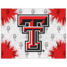 Holland Bar Stool Company - Texas Tech Red Raiders Stretched Canvas Wall Art, - Game Room Wall Art and Signs Wall Prints, Canvas Prints, Texas Tech Red Raiders, Small Canvas, Red Walls, Print Logo, Print Pictures, Canvas Wall Art, Wrapped Canvas