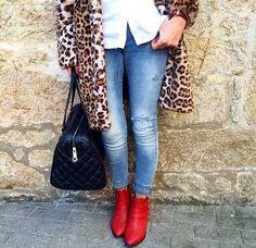 Animal print&red