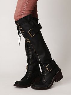 A la Resident Evil, but alas, no longer in my size :(    Free People Easton Tall Boot, $199.95