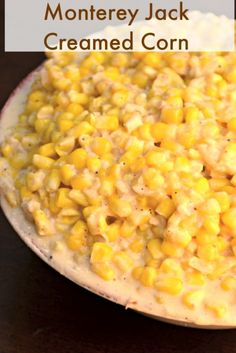 Monterey Jack Creamed Corn - This corn is easy to make and so cheesy! http://recipesforourdailybread.com/2013/04/23/monterey-jack-creamed-corn/ #corn #cream corn #side dish