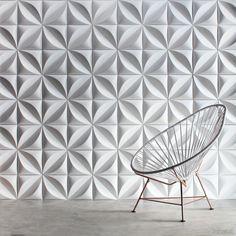 Chrysalis Cast Architectural Concrete Tile - White