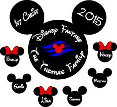 Personalized Disney Cruise Magnet  Get your custom door sign for your next family cruise!  12 x 12 White magnet with your text, customize it
