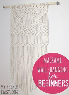 A macramé wall-hanging tutorial for beginners! @myfrenctwist.com. #macrameWallhanging