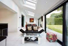 contemporary lean to extension filled with light