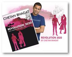 #Revolution2020  The tagline of the mentioned novel itself states what all can be expected out of it; Revlution 2020: Love, Corruption, Ambition.