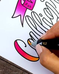 very beautiful lettering❤❤❤ Calligraphy Worksheet, Calligraphy Drawing, Calligraphy Doodles, Calligraphy Handwriting, Brush Pen Calligraphy, Calligraphy Video, Penmanship, Creative Lettering, Lettering Styles