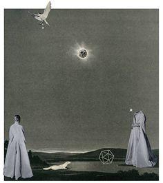 シックなコラージュ作品  山下陽子「未踏の星空」作品集出版記念展 【今週のおすすめアート】
