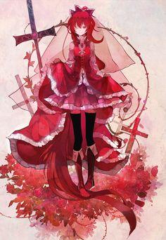 the mercenary on righteousness, red of blood staining her past and pretty little face Madoka Magica Manga Girl, Art Manga, Anime Art, Anime Girls, Madoka Magica, Fantasy, Sayaka Miki, Anime Angel, Beautiful Anime Girl