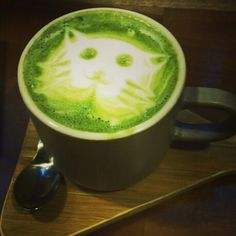 cups green tea latte