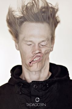 Crazy Portraits of People Being Blown by a Leaf Blower   DeMilked