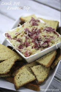 Crock Pot Reuben Dip Recipe!! This is a great appetizer recipe! The slow cooker does all the work.