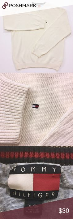 Tommy Hilfiger Crewneck Sweater XL Cream New • without original tags • Never worn • No stains • No rips  Knit sweater Tommy Hilfiger Sweaters Crewneck