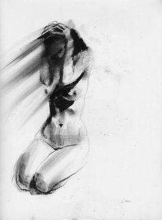 Haunting Figure Drawing Moody Dark Fine Art Crayon Figure Study No. Figure Drawing Models, Human Figure Drawing, Figure Sketching, Figure Drawing Reference, Body Drawing, Life Drawing, Dark Drawings, Charcoal Sketch, Art Studios