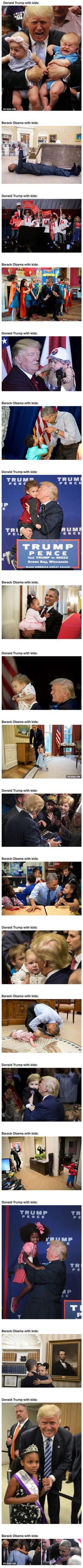Donald Trump With Kids Vs. Barack Obama With Kids