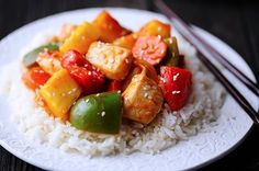 Lighter Sweet and Sour Chicken by Iowa Girl Eats