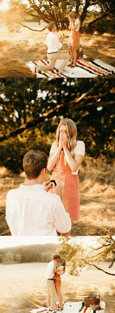 He got on one knee during their picnic photo shoot, and it's beyond romantic. <3