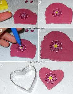 How-to tutorial - Making a pink flower Zuleykha's polymer clay: polymer clay tutorial