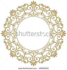 Decorative line art frames for design template. Elegant vector element for design in Eastern style, place for text. Lace illustration for invitations and greeting cards Mandala Drawing, Mandala Art, Floral Border, Floral Motif, Stencils, Decorative Lines, Stencil Printing, Art Frames, Wedding Card Design
