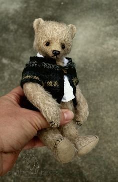 Silver Tongue One Of a Kind Mohair Artist Doll by aerlinnbears