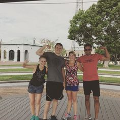 Two before 10am! Second workout this morning got us screaming about sazeracs and beignets! Traveling fit from Chicago and other parts of lovely Louisiana these folks are ready for all the Jazz Fest goodies!  #getsweaty #getsocial #getactive #travelfit #neworleans #nola #frenchquarter #theresnoplacelikenola #followyournola #showmeyournola #fitness #highintensity #hiitworkout #travel #thesweatsocial by thesweatsocial
