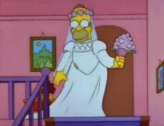 the simpsons cartoon wedding white homer GIF Simpsons Meme, The Simpsons, Got7 Jackson, Bart Simpson, Homer Simpson Meme, Happy Anniversary Wedding, Gifs, Bridezilla, Wedding Moments