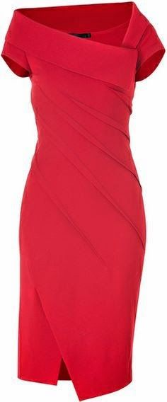 Donna Karan New York Lipstick Red Sculpted Cap Sleeve Dress. I so love Donna Karan. Donna Karan, Mode Statements, Mode Shoes, Fashion Beauty, Womens Fashion, High Fashion, Luxury Dress, Mode Inspiration, Look Chic
