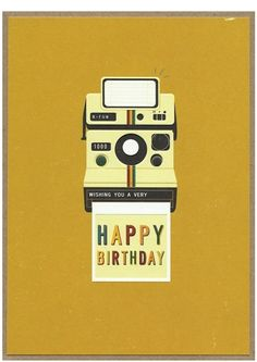 Happy Birthday Camera Card for £3.00 at www.lisaangel.co.uk