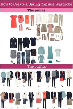 How to create a capsule wardrobe- love the variety in this wardrobe! Only a few pieces makes an awesome wardrobe!