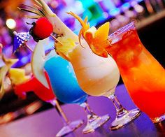 Colourful drink