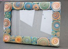 Photo frame with extruded polymer clay