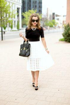 Feminine black & white.