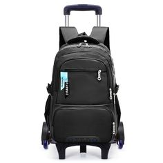 5ae2e6471b23 Children School Bags With 3 Wheels Removable Kids Child Climb Stair Trolley  School Bag Boys Girls Rolling Backpack Kids Bookbag
