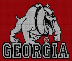 Georgia Bulldogs Crochet Afghan Pattern Graph, $3.5