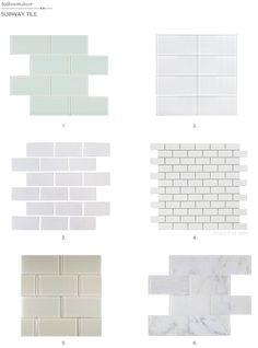 Subway Tile.  Bathrooms
