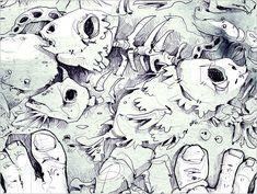 """H. P. Lovecraft """"DAGON"""" - Die Kurzgeschichte DAGON ist ein Testament, dass von einem Morphium abhängigen Mann geschrieben wurde. Darin erzählt er von einem mysteriösen Erlebnis, welches ihn drogenabhängig und zum Selbstmord getrieben hat. - (Digitale Illustration und Aquarell) Illustrator, Book Illustration, Short Stories, Watercolor, Art, Pen And Wash, Art Background, Watercolor Painting, Kunst"""