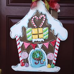 Another gingerbread door hanger done in pastel colors at The Gilded Polka Dot! Still to come--watch for our personalized plaid ornaments!