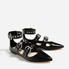 ZARA - COLLECTION AW16 - FLAT STRAPPY SHOES