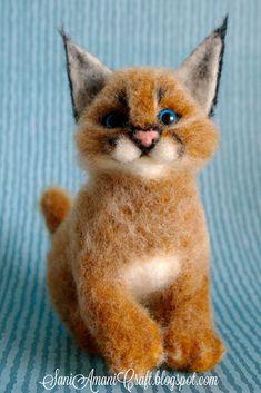 SaniAmaniCrafts needle felting, needle felted animals, miniature animals, pet portrait, handmade soft sculptures