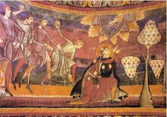 The stoning of St. Stephen. 9th century Swithzerland.
