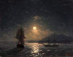 Ivan Aivazovsky - Shipping on the Moonlit Coast