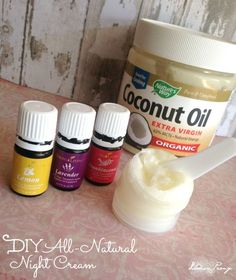 DIY All Natural Essential Oil Night Cream Recipe! This is the perfect face cream for winter!