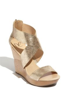 Seeking a bridal wedge so I don't fall on my face during my ceremony walk. DVF.