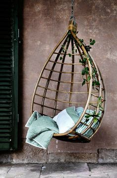 Gorgeous hanging chair by Broste Copenhagen. Would love one of these chairs for lazy summer evenings.