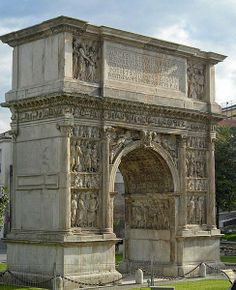 Arch of Trajan, Benevento, Campania, Italia Ancient Rome, Ancient Greece, Ancient History, Art History, Architecture Antique, Roman Architecture, Architecture Romaine, Rome Antique, Empire Romain