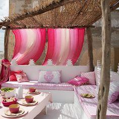 Inspiration terrasse - banquette extérieure
