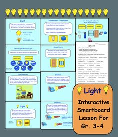 Interactive Smartboard lesson on Light for gr. 3-4
