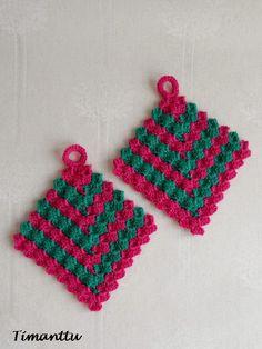 Patalappuja jämälangoista Crochet, Chrochet, Crocheting, Knits, Hand Crochet